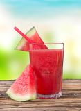 Watermelon juice. Fresh watermelon juice, healthy drinks Stock Photos