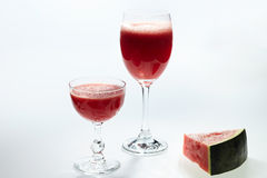 Watermelon juice in glass Royalty Free Stock Photography