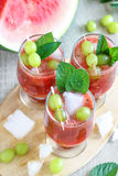 Watermelon Juice with Grapes Stock Photo