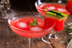 Watermelon juice with ice Royalty Free Stock Image