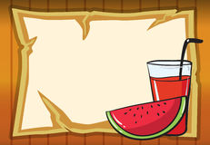 A watermelon and juice Royalty Free Stock Photos