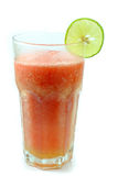 Watermelon juice with lemon lime Stock Photos