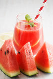 Watermelon juice with lemon and mint Royalty Free Stock Photography
