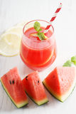 Watermelon juice with lemon and mint Royalty Free Stock Photo