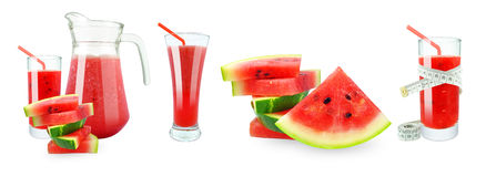 Watermelon juice, meter and fruit Royalty Free Stock Photos
