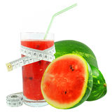 Watermelon juice and meter Stock Images