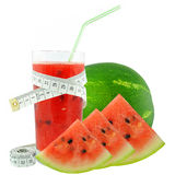 Watermelon juice and meter Royalty Free Stock Photos