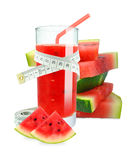Watermelon juice Stock Images