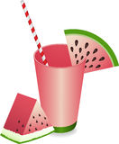 Watermelon Juice Summer Refreshment Stock Photos