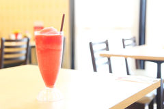 Watermelon juice. On the table stock images