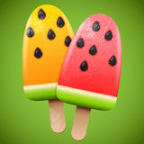 Watermelon juicy ice cream Stock Photos