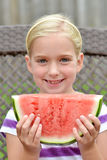 Watermelon Kid Stock Image