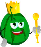Watermelon king Stock Images