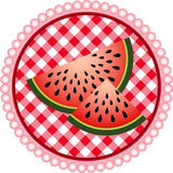 Watermelon Label Design Royalty Free Stock Photos