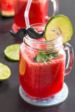 Watermelon and lime drink Royalty Free Stock Photos