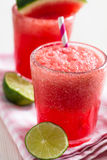 Watermelon and lime drink Royalty Free Stock Image