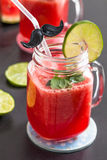 Watermelon and lime drink Stock Image