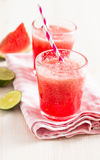 Watermelon and lime drink Stock Photos