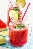 Watermelon and lime drink Stock Photography