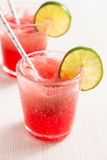 Watermelon and lime drink Stock Photo