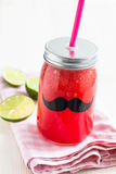 Watermelon and lime drink Royalty Free Stock Images