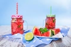 Watermelon and lime lemonades Stock Image