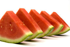 Watermelon line-up Stock Images