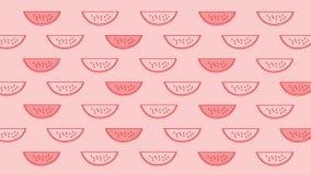Watermelon_lined deseniuje, tło, tapeta, ilustracja, projekt 2D Zdjęcia Royalty Free