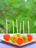 Watermelon lollipop Royalty Free Stock Photography