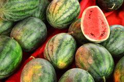 Watermelon in market Stock Photography