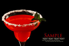 Watermelon martini drink Stock Photo