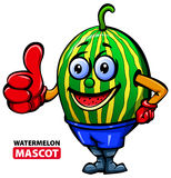 Watermelon Mascot Stock Photography