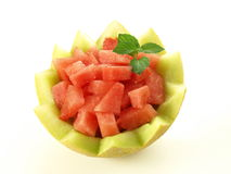 Watermelon in melon Stock Photo