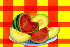 Watermelon melon Stock Photos