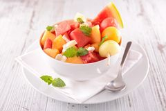 Watermelon and melon salad Royalty Free Stock Photography