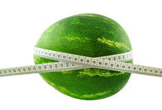 Watermelon and meter Stock Photo