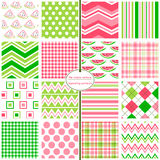 Seamless Background Patterns - Watermelon Mix Stock Images