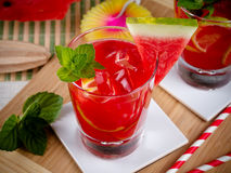 Watermelon mojito Stock Photos