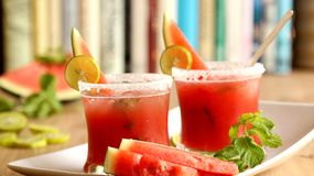 Watermelon Mojito summer drink. Watermelon Mojito is a refreshing summer drink. Easy, tasty and relishing drink Royalty Free Stock Photos