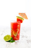Watermelon mojito with watermelon garnish Royalty Free Stock Photography