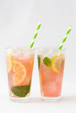 Watermelon mojito on white background Stock Images