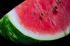 Watermelon, one big piece, closeup, macro shot stock images