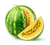 yellow watermelon stock photos
