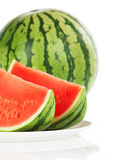 Watermelon over white background Stock Photography