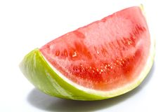 Watermelon over white - isolated. Ripe Watermelon over white  isolated Royalty Free Stock Photos