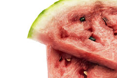 Watermelon over white Stock Images