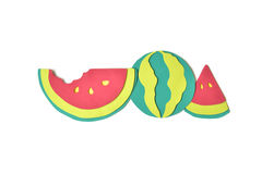 Watermelon paper cut on white background Stock Image