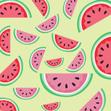 Watermelon Pattern. Watermelon illustration pattern on a light green background Royalty Free Illustration