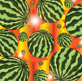 Watermelon pattern illustration Royalty Free Stock Images