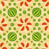 Watermelon pattern. Watermelon seamless geometric pattern, wallpaper or background Stock Image